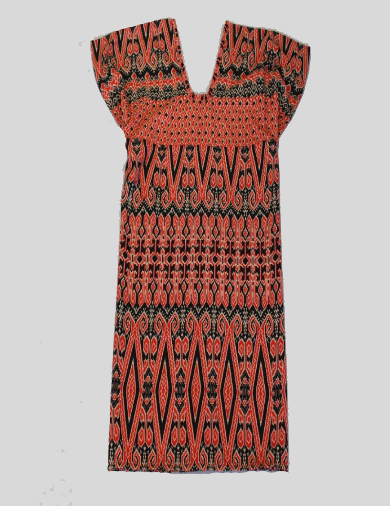 Orange Ethnic Pattern Batik Dress