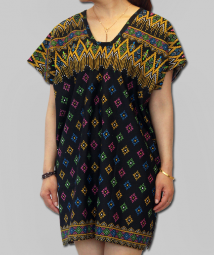 Patterned Batik Dress