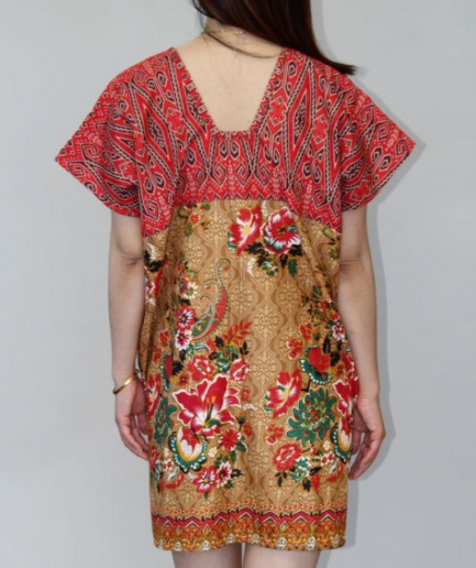 Hibiscus Batik Dress