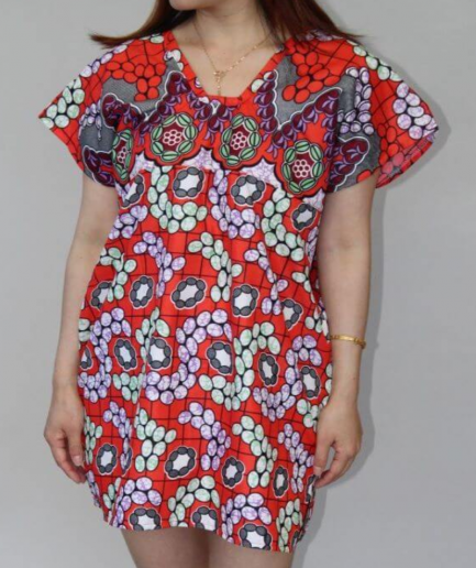 Retro Patterned Batik Dress